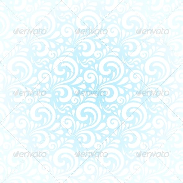 Blue Winter Curls Vector Abstract Background