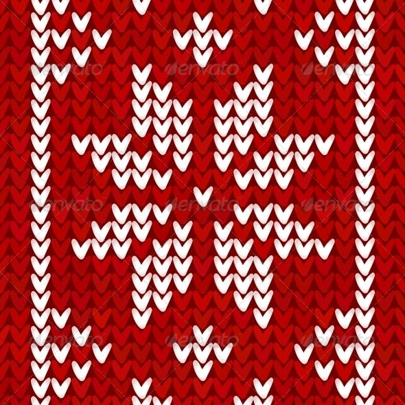 Christmas Embroidery Vector Background