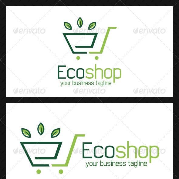 Eco Shopping Logo Template
