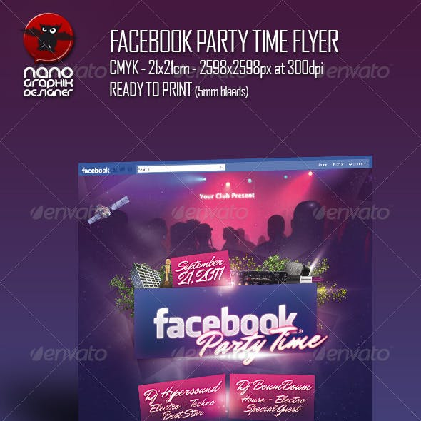 Facebook Party Time Flyer