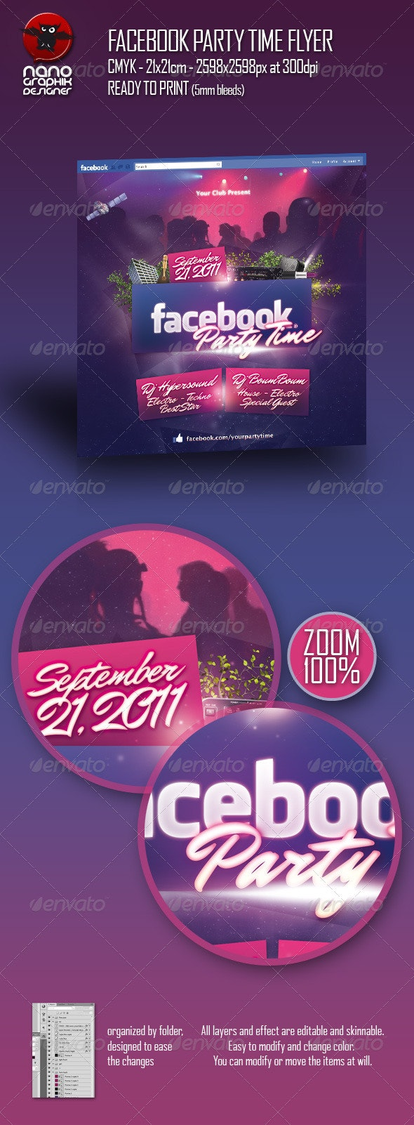 Facebook Party Time Flyer - Clubs & Parties Events