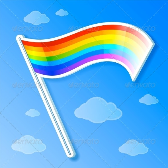Vector rainbow Flag - Seasons Nature