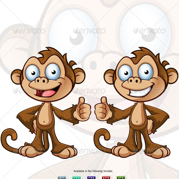 Two Cheeky Monkey Characters