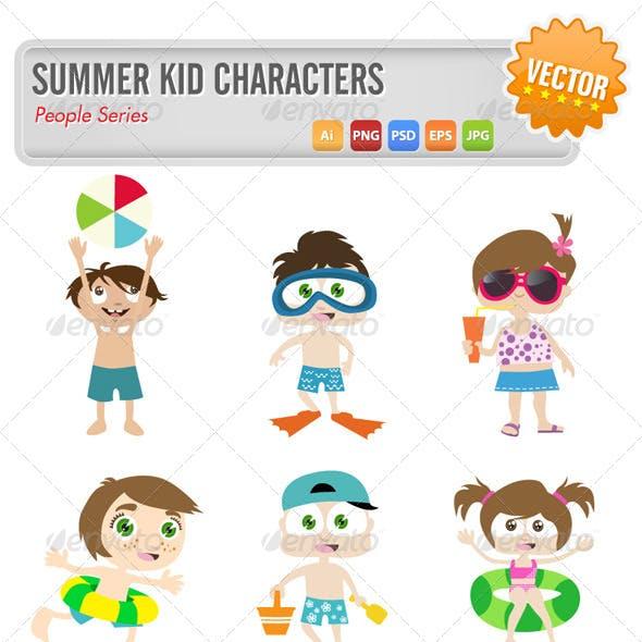 Summer Kid Characters