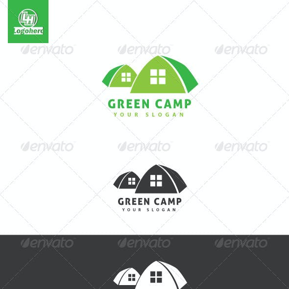 Green Camp Logo Template