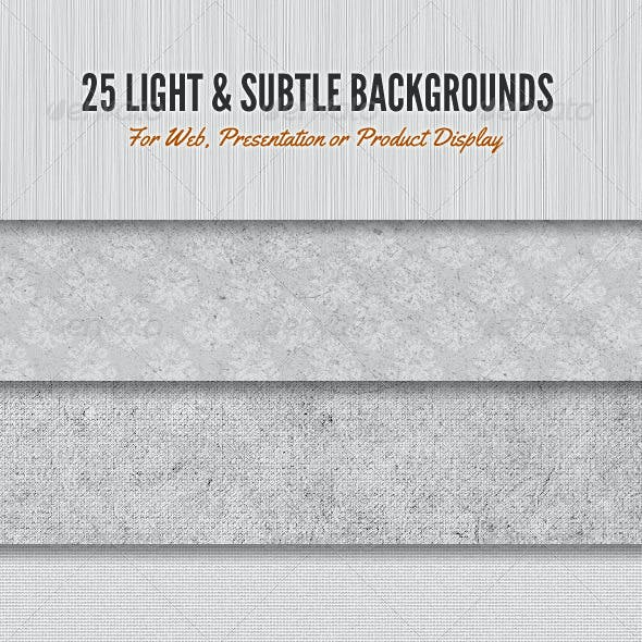 Light and Subtle Background Textures