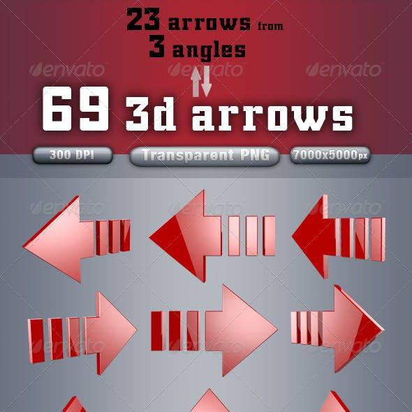 3D Arrows Pack Vol.2