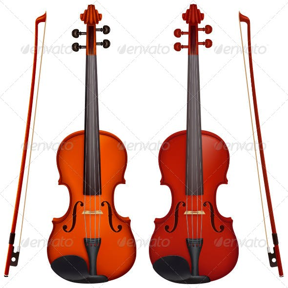 Two Violins with Bows