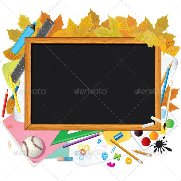 Back to School. Vector Image with Free Space - Backgrounds Business