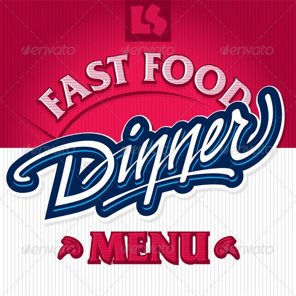 Dinner hand lettering design (vector) - Decorative Vectors