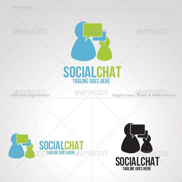 Social Chat Logo Template
