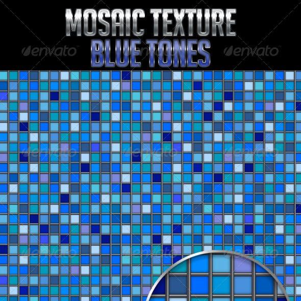 Mosaic Texture Blue Tones