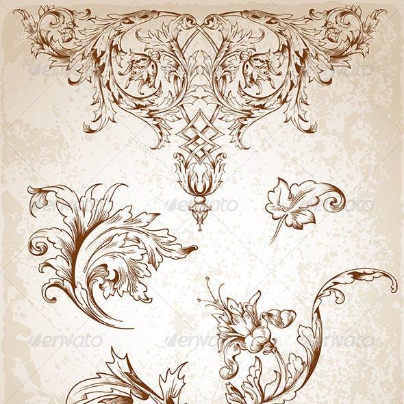 Vintage Victorian Floral Elements