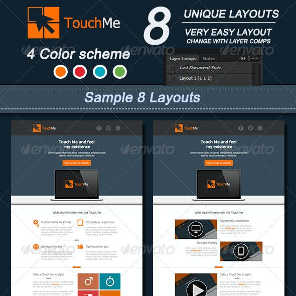 Touch Me E-mail Template Design : Vol2
