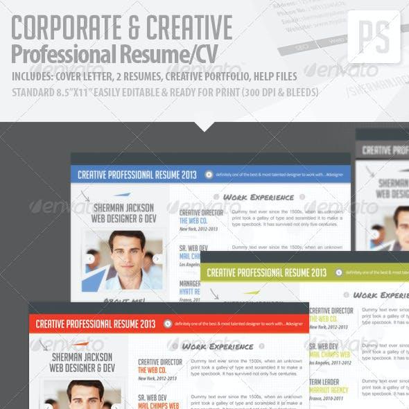 Resume/CV - Creative & Corporate