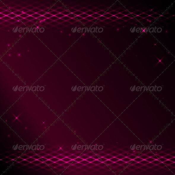 Crimson background with bright tracery and stars - Backgrounds Decorative