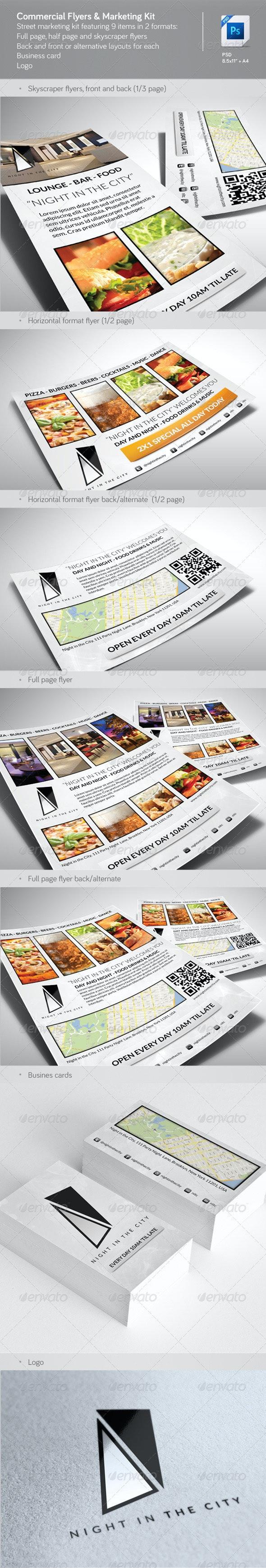 Commercial Flyers & Marketing Kit - Restaurant Flyers