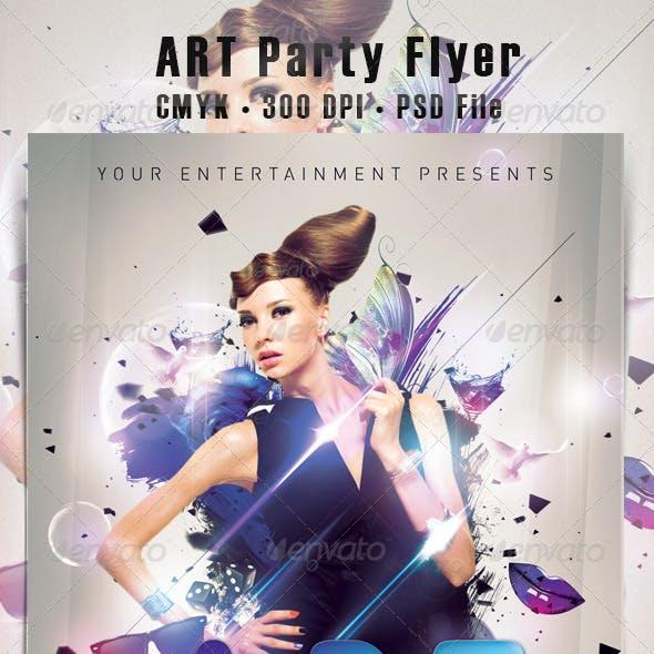 Art Party Flyer