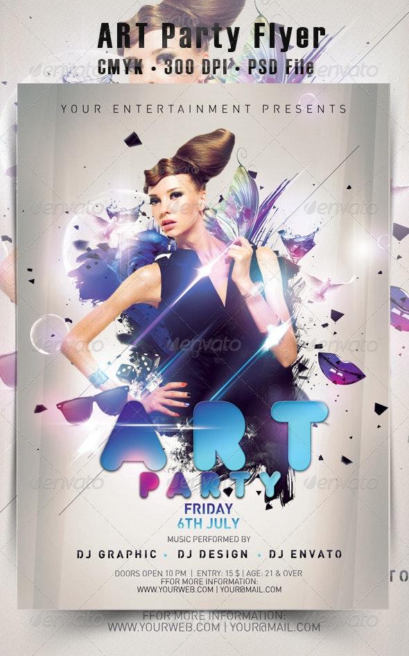 Art Party Flyer - Events Flyers