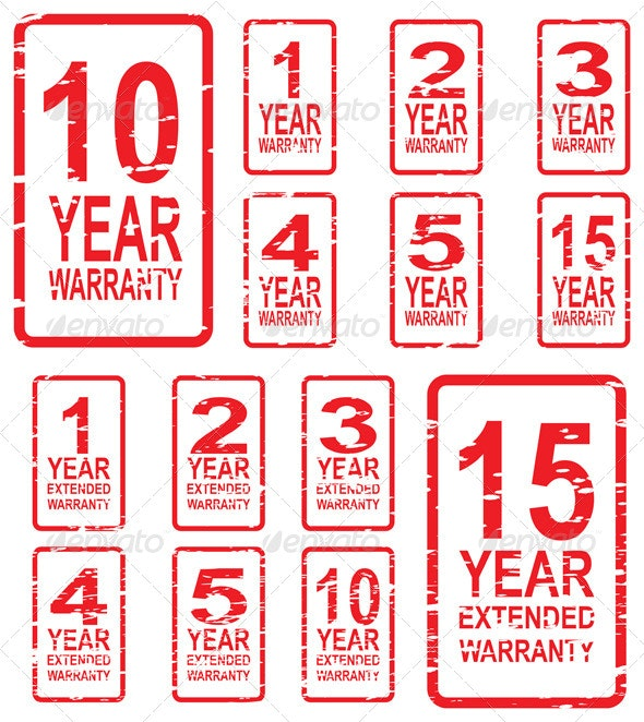 Extended Warranty Rubber Stamps - Retail Commercial / Shopping