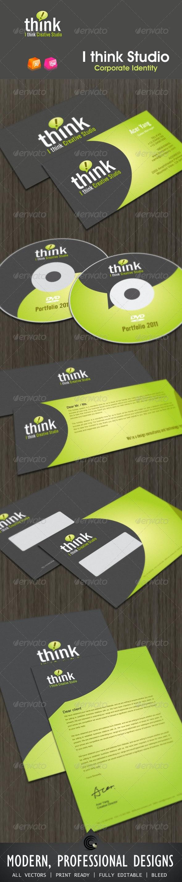 Ithink Studio Corporate Identity - Stationery Print Templates