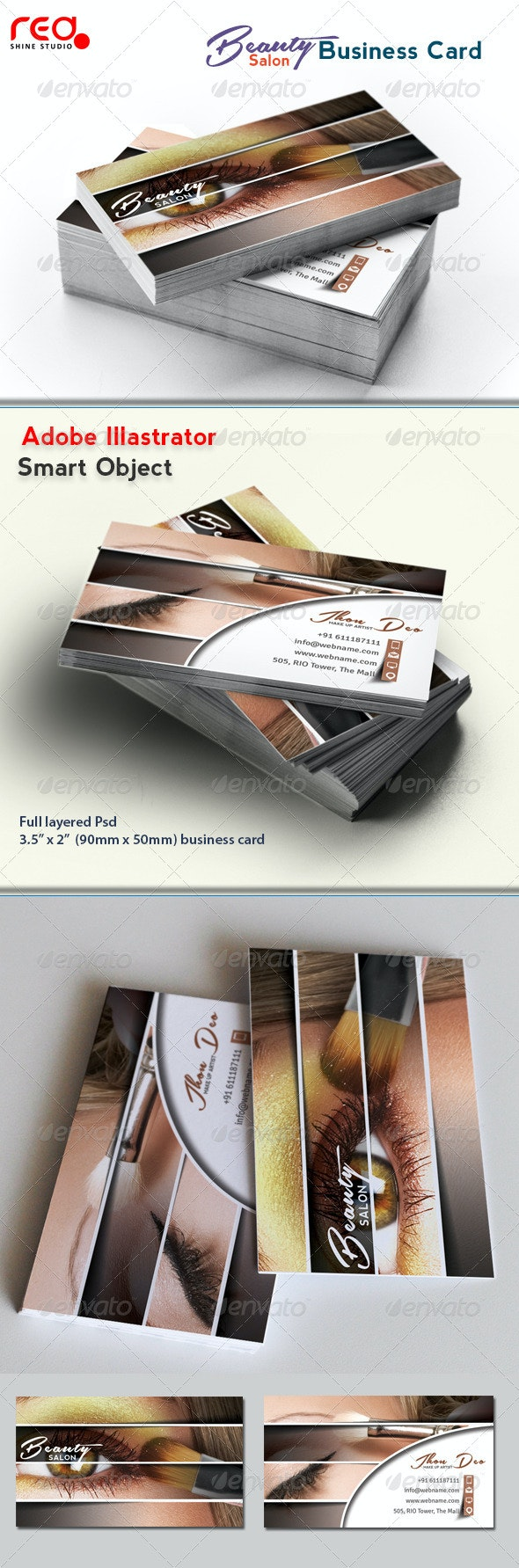 Beauty Salon Business Card - Creative Business Cards
