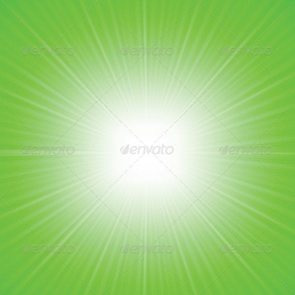 Rays Green Abstract Background