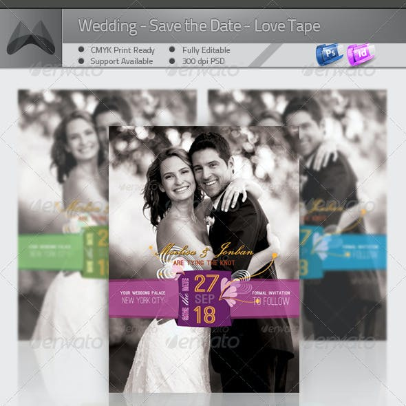 Wedding - Save the Date - Love Tape