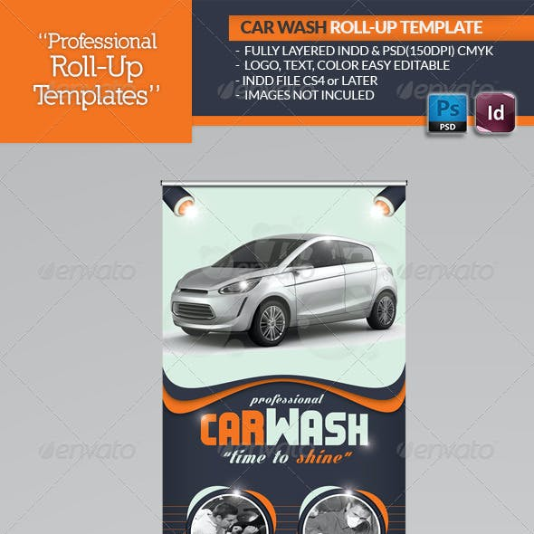Car Wash Roll-Up Template