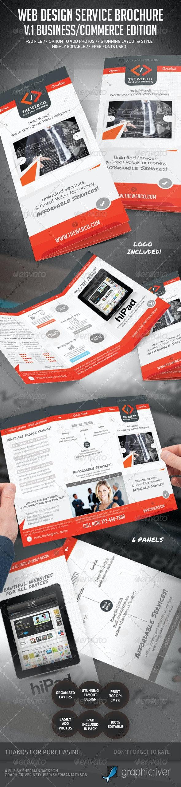 Web Service & Business Brochure V.1  - Corporate Brochures