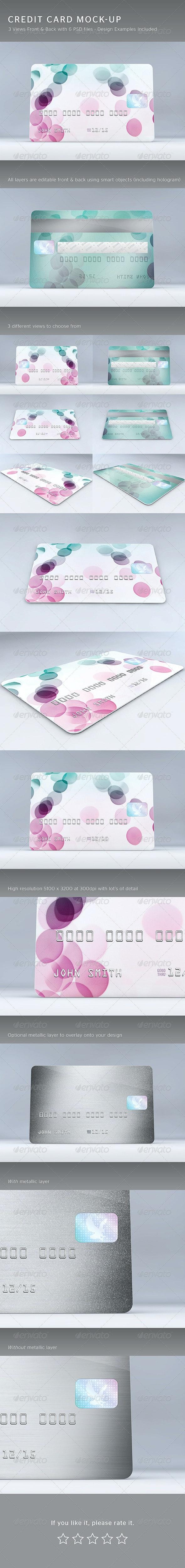 Credit Card Mock-Up - Print Product Mock-Ups