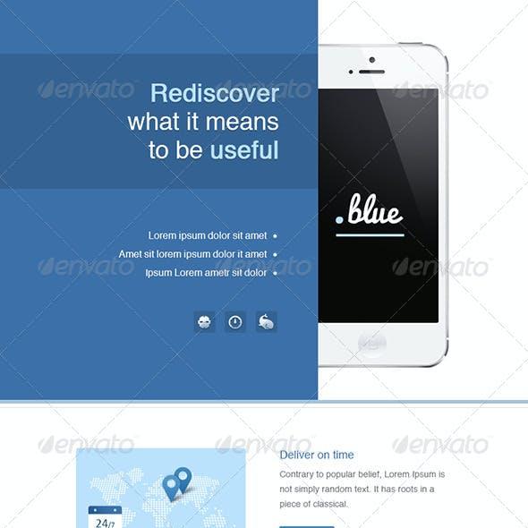 App eNewsletter Templates - Blue & Violet