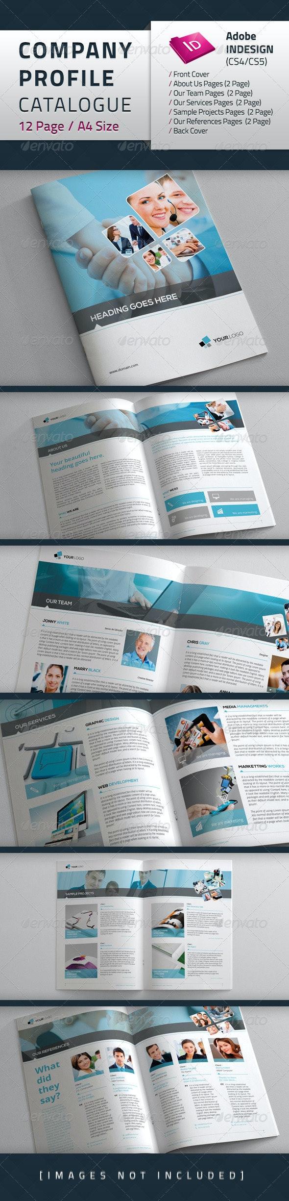 Company Profile Catalogue - Brochures Print Templates