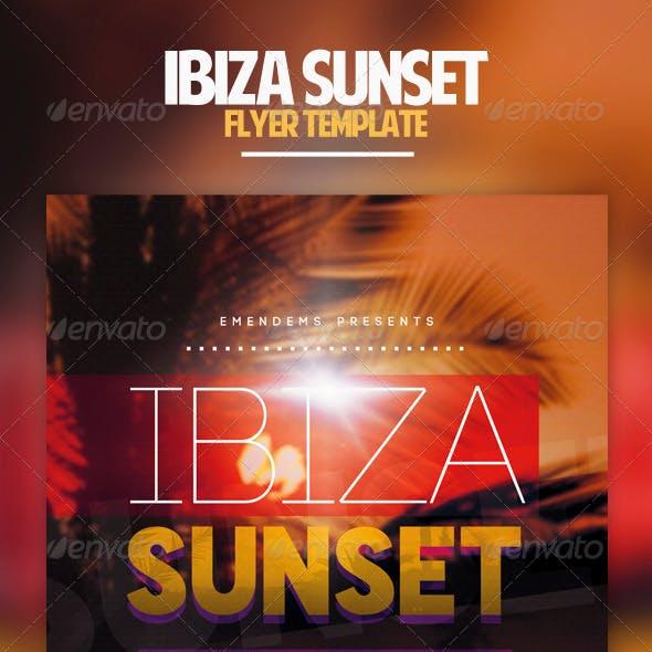 Ibiza Sunset Flyer Template