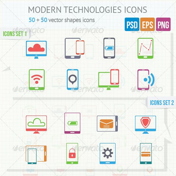 Modern Technologies Icons