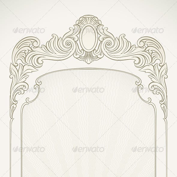 Victorian Styled Label Background