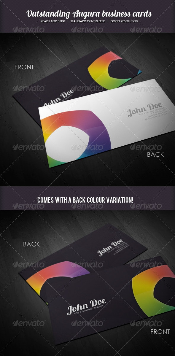 Augura Sleek Business Cards - Corporate Business Cards