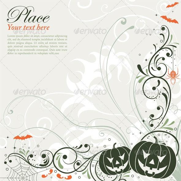 Floral Halloween background - Halloween Seasons/Holidays