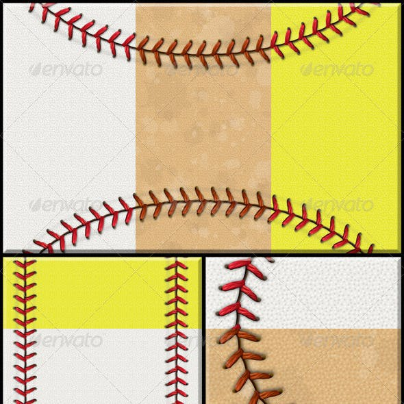 Baseball/Softball Background Set