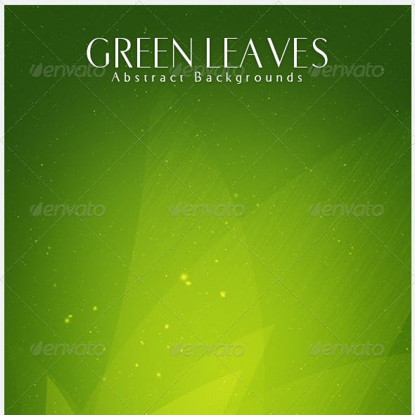 Green Leaves  Abstract Backgrounds | V5