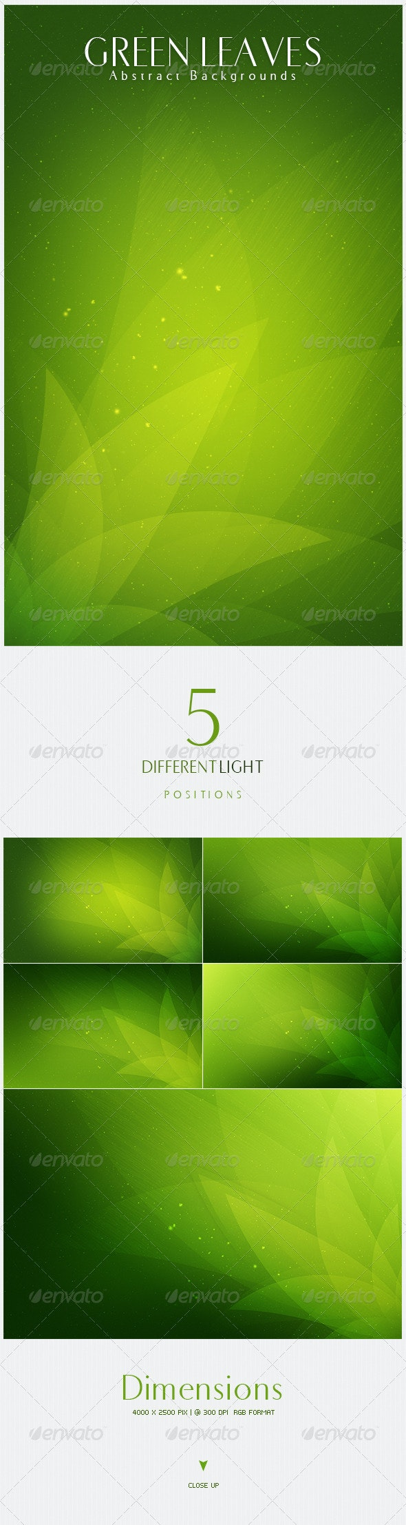 Green Leaves  Abstract Backgrounds | V5 - Nature Backgrounds
