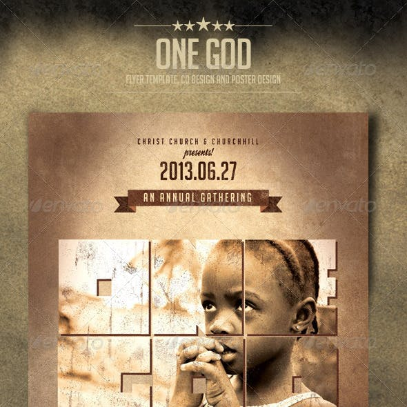 One God Flyer Template