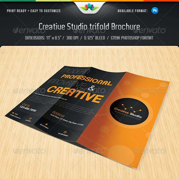 Creative Studio Trifold brochure