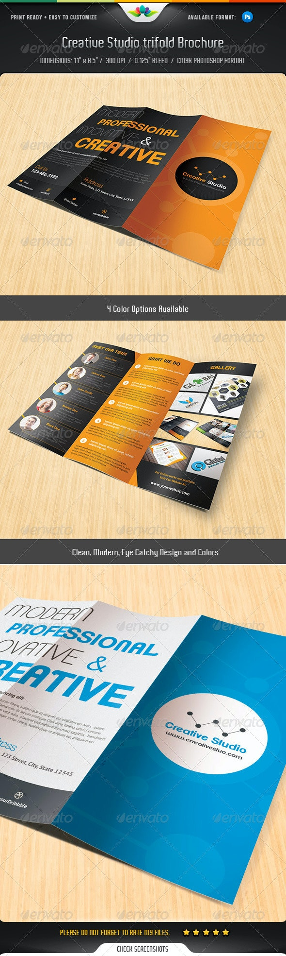 Creative Studio Trifold brochure - Corporate Brochures