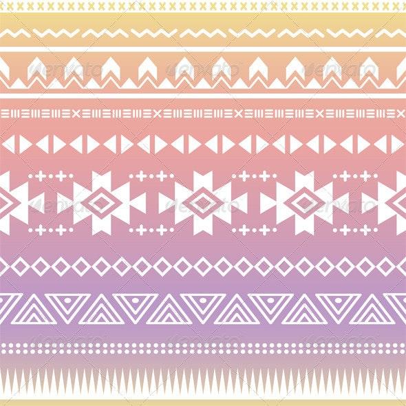 Tribal Aztec Ombre Seamless Pattern - Patterns Decorative