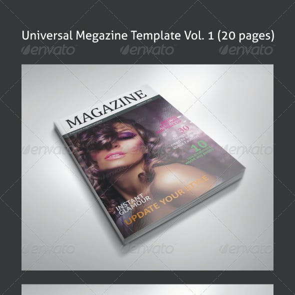 Universal Magazine template Vol. 01 (20 pages)
