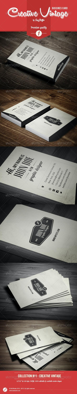 Premium Creative Vintage Bussines Card - Retro/Vintage Business Cards