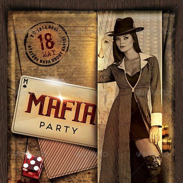 Mafia Party Flyer
