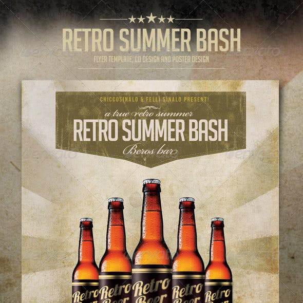 Retro Summer Bash Flyer Template