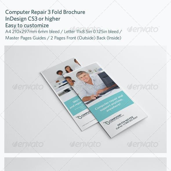Computer Repair 3 Fold Brochure